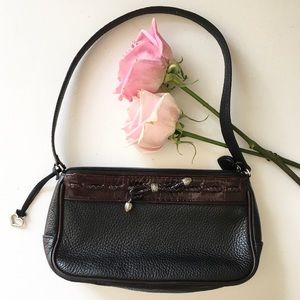 Brighton Black and Brown Leather Purse